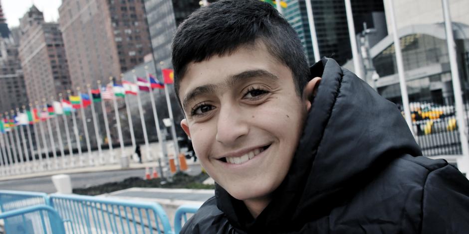 Noeh utanför FN-skrapan i New York