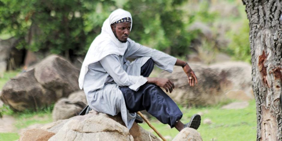 En fulaniherde i nordöstra Nigeria.