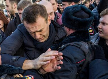 Den ryska oppositionsledaren Aleksej Navalnyj i Moskva, mars 2017 (foto: Evgeny Feldman, Wikipedia).