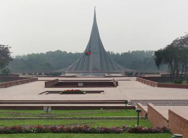 Självständighetsmonumentet i Bangladeshs huvudstad Dhaka.
