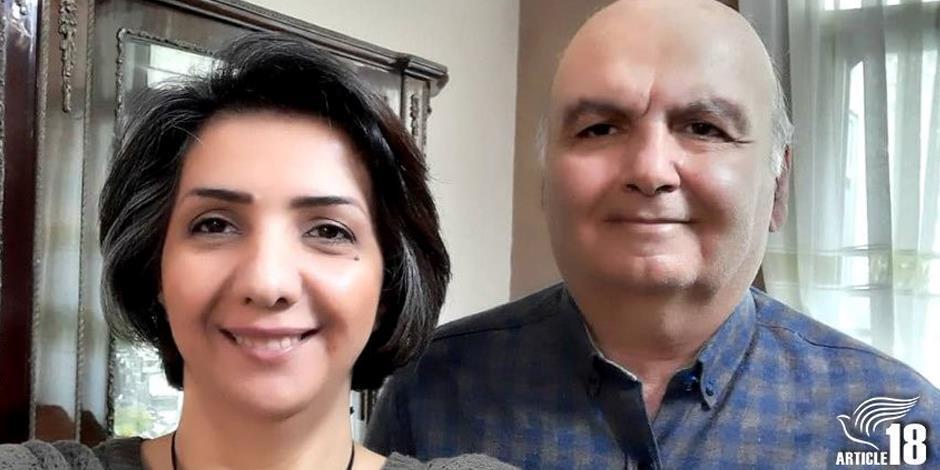 Sara Ahmadi och Homayoun Zhayeh har dömts till åtta respektive två års fängelse, efter att ha varit engagerade i en husförsamling (Foto: Artcle 18).
