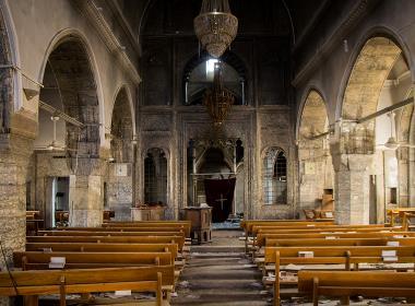 En kyrka i Bartella, 15 kilometer öster om Mosul.