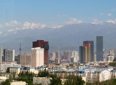 Xinjiangs huvudstad Urumqi.