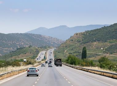 En motorväg utanför Efesos, i västra Turkiet.