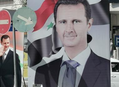 Valrörelse i Syriens huvudstad Damaskus. Den 26 maj avgörs vem som ska vara president de kommande sju åren.