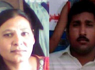 Shafqat Emmanuel och Shaguftah Kausar Masih (foto: World Watch Monitor).