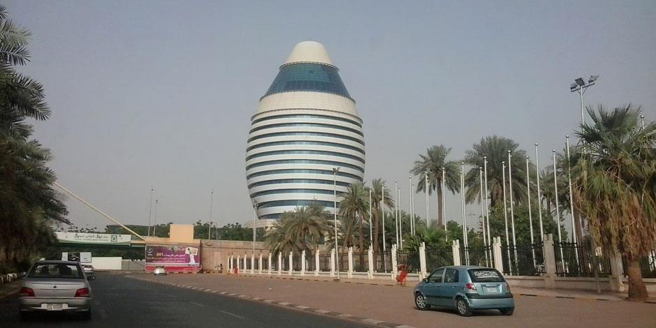 Gatuvy från Khartoum, huvudstad i Sudan.