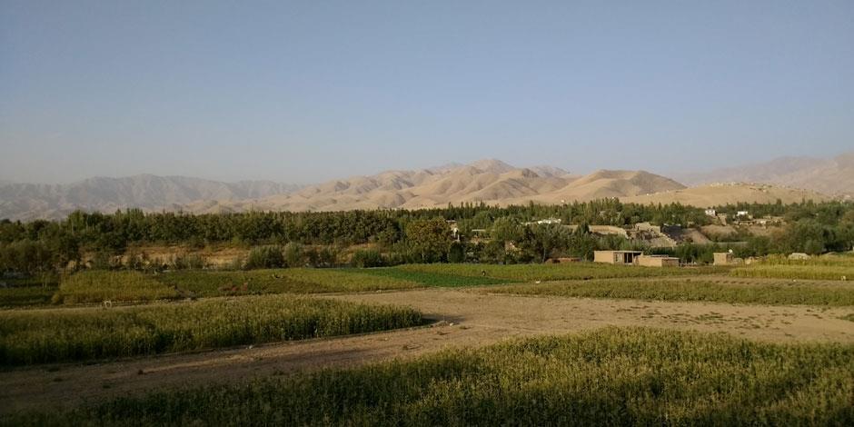 Landsbygdvy i Afghanistan.