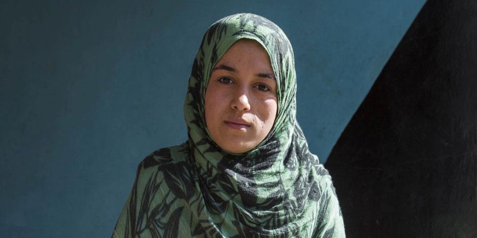 En ung kvinna i Afghanistan (kvinnan på bilden har inget samband med artikeln). Foto: IMB.ORG.