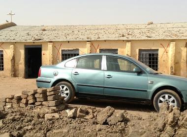Byggnaden, som tillhör Sudanese Church of Christ (SCOC) i Bahri i norra Khartoum, har försetts med markeringar på order av regeringen i juni 2014 för att visa att den ska rivas.