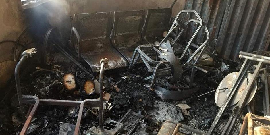 Nio av elva förråd där kristna studenter förvarade sina musikinstrument sattes i brand.