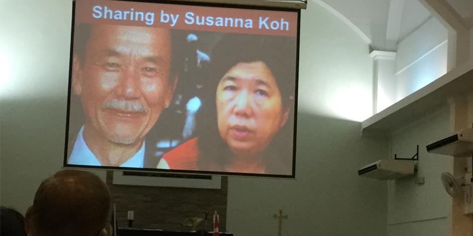 Den kidnappade pastor Raymond Koh och hans hustru Susanna.