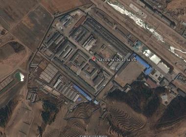 Satellitbild över ett mindre fångläger i norra delen av Nordkorea.