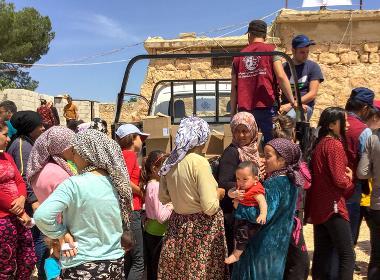 Flyktingläger i norra Syrien (personerna på bilden har inget samband med artikeln).