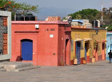 Gatuvy från delstaten Oaxaca i Mexiko, några mil från samhället Santiago Camotlán.
