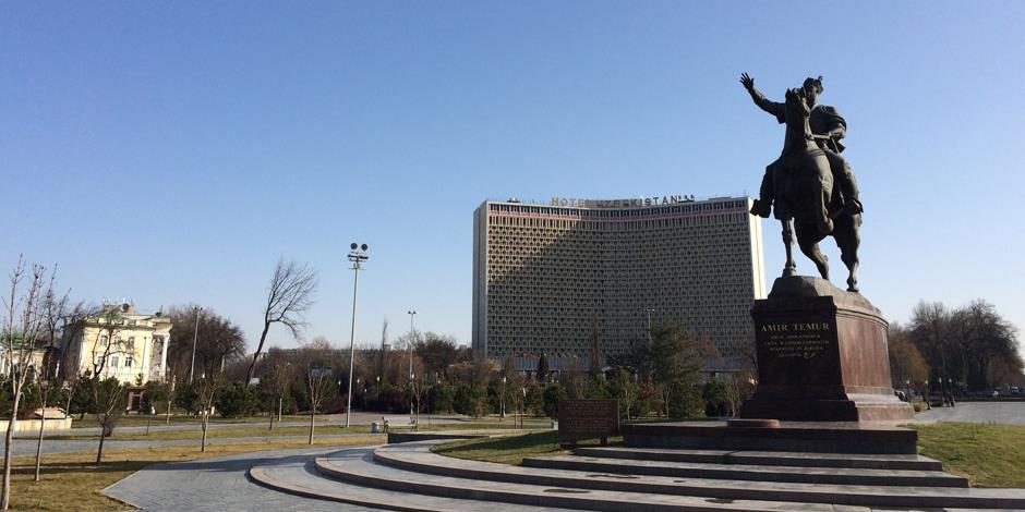 Vy från Uzbekistans huvudstad Tasjkent.
