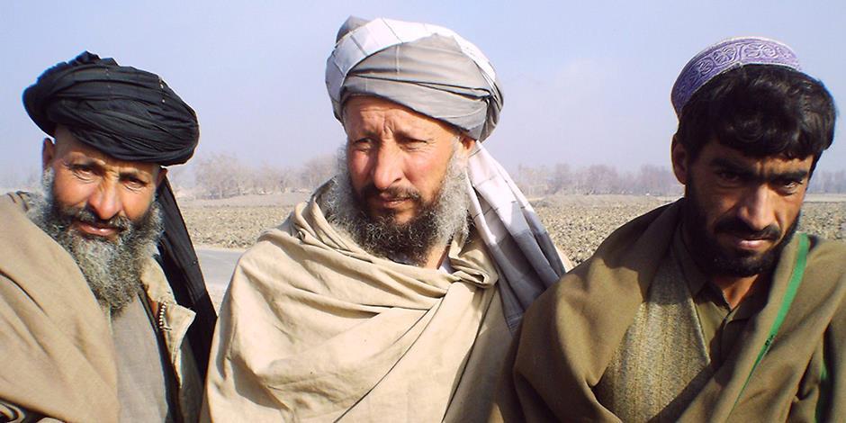 Porträtt av tre afghanska män (bilden har inget samband med texten).