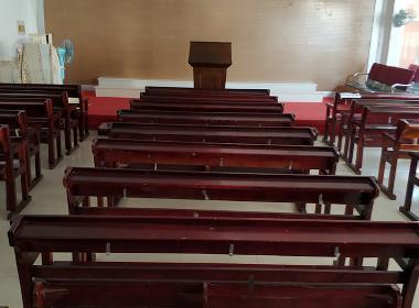 En tom kyrka i Kina