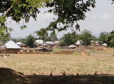 En by i nordöstra Nigeria, ett område som har drabbats hårt av Boko Haram.