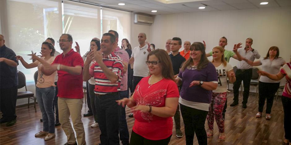 Speaking Hands arrangerar träning för döva kristna i Damaskus.