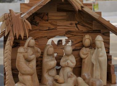 En julkrubba i Betlehem.