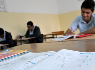 Lektion på Hope School i Palestina (personerna på bilden har inget samband med personerna i texten).