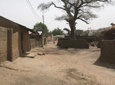En gata i Chibok, nordöstra Nigeria.