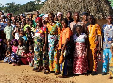 Den kristna församlingen i Lokpoou.