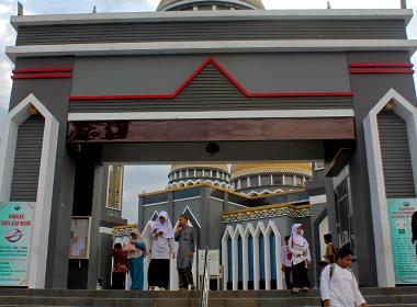 En moské i Indonesien.